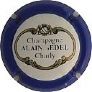 CHAMPAGNE ALAIN BEDEL - PLAQUE MUSELET RESERVE (ancienne)